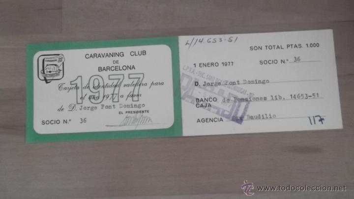 Coleccionismo deportivo: LOTE 15 CARNETS ANUAL SOCIO CLUB CARAVANING BARCELONA CATALUNYA AÑOS 70 80 90 MÁS CARNET PERSONAL - Foto 5 - 47363456
