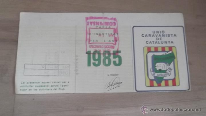 Coleccionismo deportivo: LOTE 15 CARNETS ANUAL SOCIO CLUB CARAVANING BARCELONA CATALUNYA AÑOS 70 80 90 MÁS CARNET PERSONAL - Foto 6 - 47363456