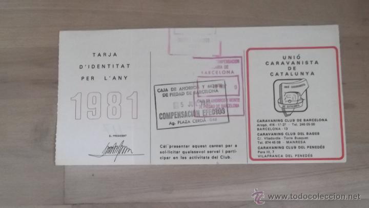Coleccionismo deportivo: LOTE 15 CARNETS ANUAL SOCIO CLUB CARAVANING BARCELONA CATALUNYA AÑOS 70 80 90 MÁS CARNET PERSONAL - Foto 7 - 47363456