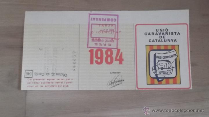 Coleccionismo deportivo: LOTE 15 CARNETS ANUAL SOCIO CLUB CARAVANING BARCELONA CATALUNYA AÑOS 70 80 90 MÁS CARNET PERSONAL - Foto 8 - 47363456