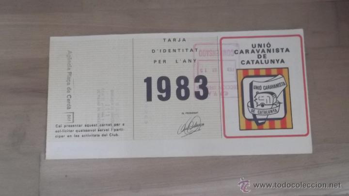 Coleccionismo deportivo: LOTE 15 CARNETS ANUAL SOCIO CLUB CARAVANING BARCELONA CATALUNYA AÑOS 70 80 90 MÁS CARNET PERSONAL - Foto 9 - 47363456