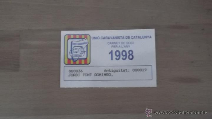 Coleccionismo deportivo: LOTE 15 CARNETS ANUAL SOCIO CLUB CARAVANING BARCELONA CATALUNYA AÑOS 70 80 90 MÁS CARNET PERSONAL - Foto 10 - 47363456