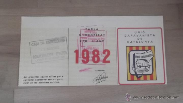 Coleccionismo deportivo: LOTE 15 CARNETS ANUAL SOCIO CLUB CARAVANING BARCELONA CATALUNYA AÑOS 70 80 90 MÁS CARNET PERSONAL - Foto 11 - 47363456