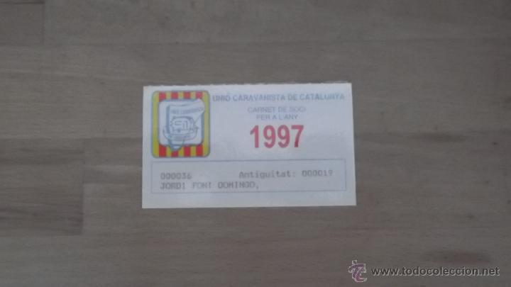Coleccionismo deportivo: LOTE 15 CARNETS ANUAL SOCIO CLUB CARAVANING BARCELONA CATALUNYA AÑOS 70 80 90 MÁS CARNET PERSONAL - Foto 12 - 47363456