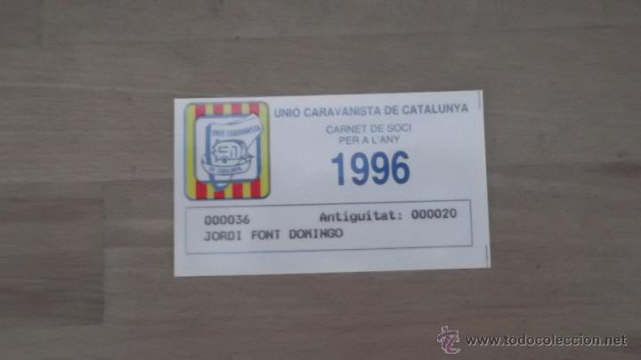 Coleccionismo deportivo: LOTE 15 CARNETS ANUAL SOCIO CLUB CARAVANING BARCELONA CATALUNYA AÑOS 70 80 90 MÁS CARNET PERSONAL - Foto 13 - 47363456