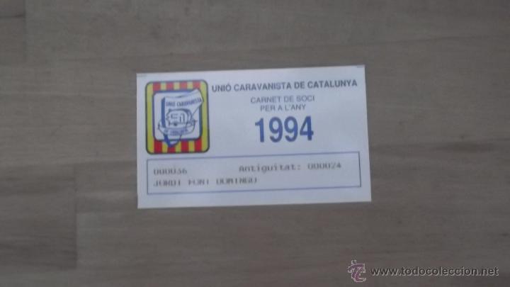Coleccionismo deportivo: LOTE 15 CARNETS ANUAL SOCIO CLUB CARAVANING BARCELONA CATALUNYA AÑOS 70 80 90 MÁS CARNET PERSONAL - Foto 14 - 47363456