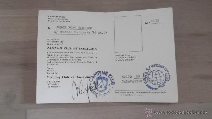 Coleccionismo deportivo: LOTE 15 CARNETS ANUAL SOCIO CLUB CARAVANING BARCELONA CATALUNYA AÑOS 70 80 90 MÁS CARNET PERSONAL - Foto 17 - 47363456