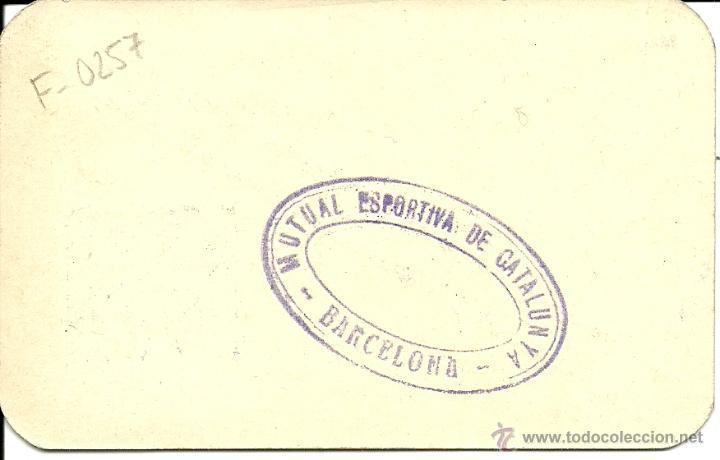 Coleccionismo deportivo: (F-0257)CARNET DE CONSELLER DE RICARD CABOT DE LA MUTUAL ESPORTIVA DE CATALUNYA-GUERRA CIVIL - Foto 2 - 47816211