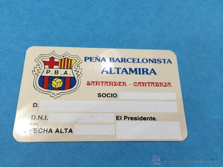 CARNET DE LA PEÑA BARCELONISTA ALTAMIRA - SANTANDER - FUTBOL CLUB BARCELONA (Coleccionismo Deportivo - Documentos de Deportes - Carnet de Socios)