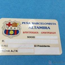 Collectionnisme sportif: CARNET DE LA PEÑA BARCELONISTA ALTAMIRA - SANTANDER - FUTBOL CLUB BARCELONA. Lote 48420458
