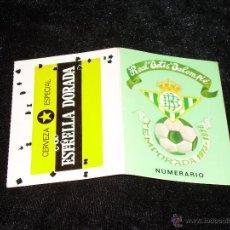 Coleccionismo deportivo: CARNET DE SOCIO Y TARJETA DE ABONADO - REAL BETIS BALOMPIE TEMPORADA 1975/1976 - VER ADICIONAL. Lote 48437106