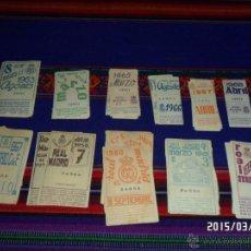 Coleccionismo deportivo: REAL MADRID LOTE DE 56 CUPONES CUPÓN DE SOCIO ENTRE LOS AÑOS 1957 Y 1968. RAROS.. Lote 48532706