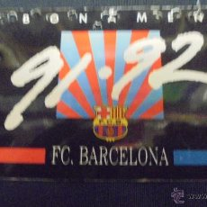 Coleccionismo deportivo: FUTBOL CLUB BARCELONA. CARNET DE SOCI 91-92.. Lote 48760906
