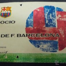 Coleccionismo deportivo: CARNET SOCIO. C.F. BARCELONA. AÑO 1970. ANUAL.. Lote 48761187