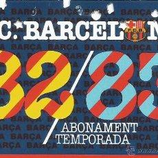 Colecionismo desportivo: FUTBOL CLUB BARCELONA ABONAMENT TEMPORADA 82 83 TRIBUNA BAIXA SUPERIOR CARNET BARÇA. Lote 49863544
