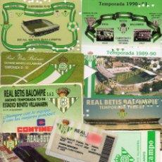 Coleccionismo deportivo: LOTE DE 11 CARNET DE SOCIO DEL REAL BETIS BALOMPIE- TODOS CORRELATEMPORADA 1986 A LA TEMPORADA 1997. Lote 50467172