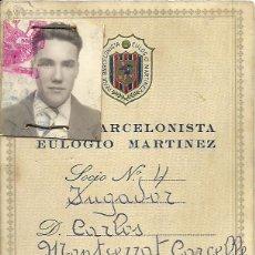 Coleccionismo deportivo: (F-0766)CARNET DE JUGADOR DE LA PEÑA BARCELONISTA EULOGIO MARTINEZ,C.F.BARCELONA. Lote 50530903