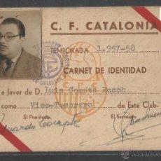 Coleccionismo deportivo: C.F. CATALONIA - TEMPORADA 1957-58 - P10035. Lote 50557925