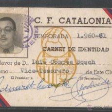 Coleccionismo deportivo: C.F. CATALONIA - TEMPORADA 1960-61 - P10034. Lote 50557932