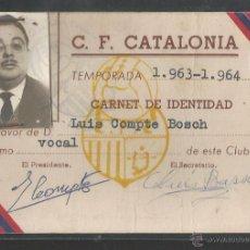 Coleccionismo deportivo: C.F. CATALONIA - TEMPORADA 1963-64 - P10033. Lote 50557935