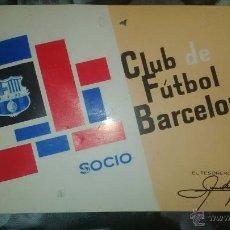 Coleccionismo deportivo: ABONO ANUAL SOCIO BARCELONA BARÇA 1966 FUTBOL CLUB. Lote 50627391
