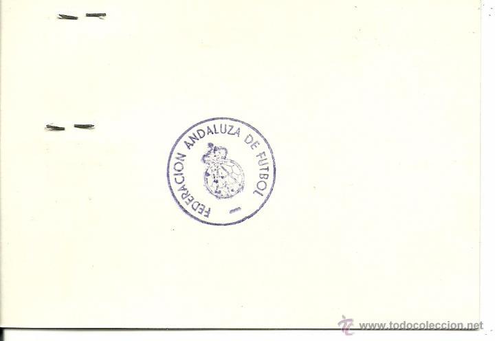 Coleccionismo deportivo: (F-0856)FICHA DE JUGADOR PROFESIONAL 1975-76,ANTONIO FERNANDEZ BENITEZ,C.D.MALAGA - Foto 2 - 51012096