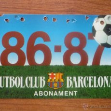 Coleccionismo deportivo: CARNET DE SOCIO ABONO FC BARCELONA 1986 1987 - LIGA FUTBOL 86 87 BARÇA. Lote 51390085