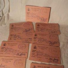 Coleccionismo deportivo: 9 ANTIGUAS FICHAS FRENTE DE JUVENTUDES, BALONMANO ELCHE 1964. Lote 52845936