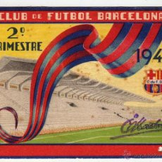 Coleccionismo deportivo: ABONO SOCIO F. C. BARCELONA 2º TRIMESTRE 1949 CON SELLO. Lote 54209041