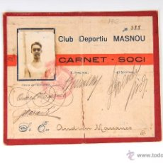 Coleccionismo deportivo: ANTIGUO CARNET DE SOCI CLUB DEPORTIU MASNOU 355. Lote 54876639