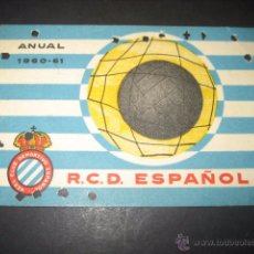 Coleccionismo deportivo: CARNET FUTBOL R. C. D. ESPAÑOL TEMPORADA 1960 - 61 ANUAL. Lote 54996160