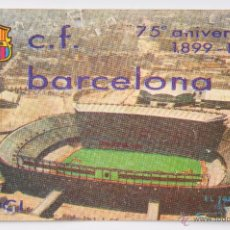 Coleccionismo deportivo: CARNET DE SOCIO C.F. BARCELONA - ANUAL 1974- 75 ANIERSARIO 1899-1971. Lote 55042772