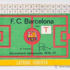 Coleccionismo deportivo: CARNET SOCIO FUTBOL CLUB BARCELONA - ABONAMENT TEMPORADA 1976-1977. Lote 55042928