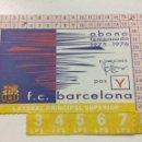 Coleccionismo deportivo: CARNET SOCIO FC BARCELONA ABONAMENT 1975-1976 ABONO 75-76 LATERAL BARÇA.. Lote 55131079