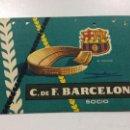 Coleccionismo deportivo: CARNET SOCIO FC BARCELONA TEMPORADA AÑO 1959, 1 PRIMER TRIMESTRE, BARÇA SOCI.. Lote 55161331