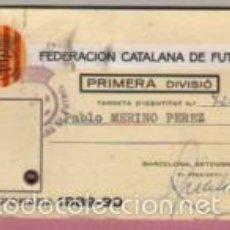 Coleccionismo deportivo: CARNET DE LA FEDERACIÓN CATALANA DE FUTBOL - PRIMERA DIVISIÓN - TEMPORA 1989-90. Lote 55244562