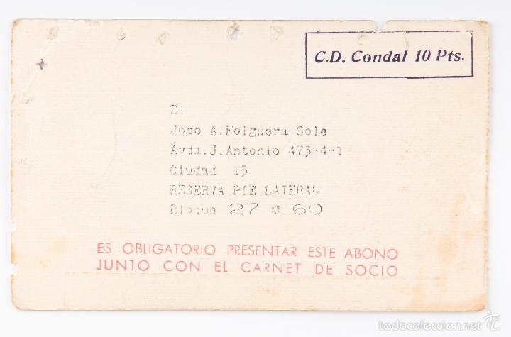 Coleccionismo deportivo: CARNET FUTBOL ESTADIO C.F.BARCELONA -ABONO TEMPORADA 1967-68- LATERAL PRINCIPAL - Foto 2 - 55814785
