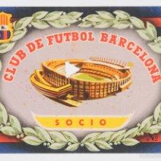 Coleccionismo deportivo: ENTRADA SOCIO CLUB DE FUTBOL BARCELONA-. Lote 55939592