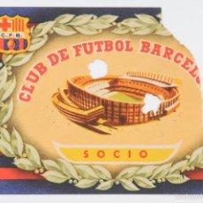 Coleccionismo deportivo: ENTRADA SOCIO CLUB DE FUTBOL BARCELONA-. Lote 55939605