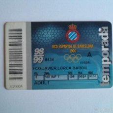 Coleccionismo deportivo: R.C.D. ESPANYOL - CARNET TEMPORADA 98/99 - 1998/1999. Lote 56000247