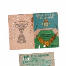 Collectionnisme sportif: CARNET DE SOCIO MAS ABONO DEL REAL BETIS BALOMPIE.-TEMPORADA 1964-65. Lote 56156173