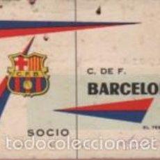 Coleccionismo deportivo: CARNET DE FUTBOL - C. DE F. BARCELONA - BARÇA 1962 - ANUAL . Lote 57325020
