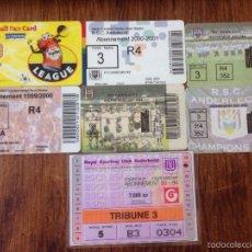 Coleccionismo deportivo: R549 LOTE 7 ABONOS SOCIO RSC ANDERLECHT VARIOS AÑOS VER FOTOS. Lote 57675718