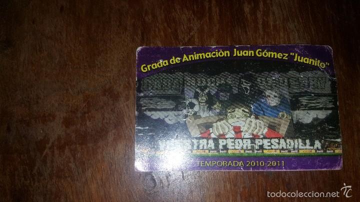 CARNET SOCIO ULTRAS SUR REAL MADRID N° 557 (Coleccionismo Deportivo - Documentos de Deportes - Carnet de Socios)
