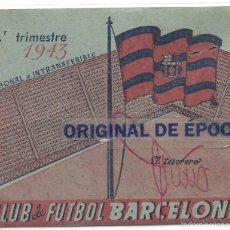 Coleccionismo deportivo: (F-1966)CARNET C.F.BARCELONA 3ER.TRIMESTRE 1943. Lote 60699199