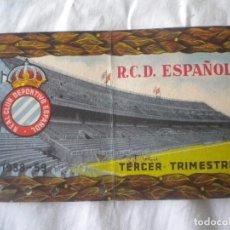 Coleccionismo deportivo: CARNET DE SOCIO DEL REAL CLUB ESPAÑOL 3ER TRIMESTRE 1958-1959.. Lote 61771092