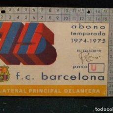 Coleccionismo deportivo: ANTIGUO CARNET DE SOCIO 1974-1975 FUTBOL CLUB FC BARCELONA F.C BARÇA CF . Lote 66940526