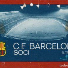 Coleccionismo deportivo: CARNET DE SOCIO DEL F.C. BARCELONA DE 1973.. Lote 70145953