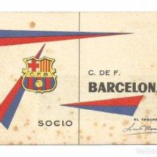 Coleccionismo deportivo: CARNET BARÇA C. DE F. BARCELONA 1962. Lote 71722743