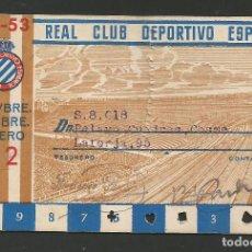 Coleccionismo deportivo: REAL CLUB DEPORTIVO ESPAÑOL-CARNET 1952- 53 -ROTO - VER FOTOS - (V-8200). Lote 72903895